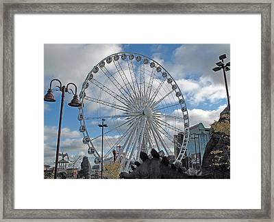 Niagara Sky Wheel Framed Print by Barbara McDevitt