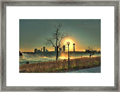 Niagara Sunset Framed Print