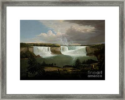 Niagra Falls By Alvan Fisher Framed Print