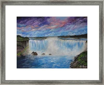 Niagra Falls Framed Print by Sheila Banga