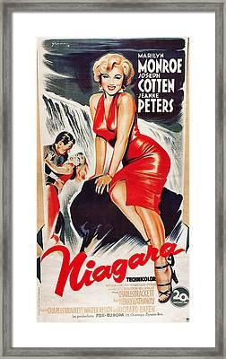 Niagra, Us Poster, From Left Joseph Framed Print by Everett