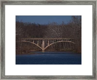 Niangua Bridge Framed Print by Julie Grace
