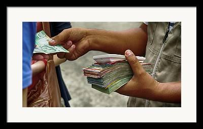Stack Of Money Framed Prints