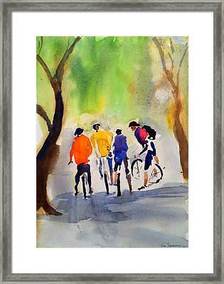 Nicasio Bikers Framed Print