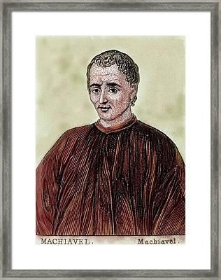 Niccolo Machiavelli (florence Framed Print