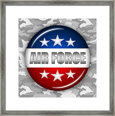 Nice Air Force Shield 2 Framed Print by Pamela Johnson