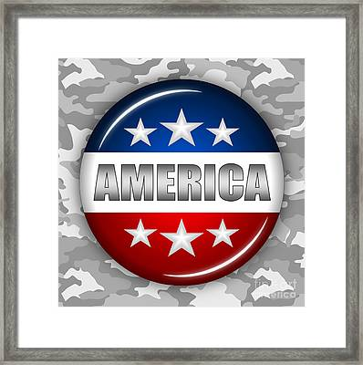 Nice America Shield 2 Framed Print by Pamela Johnson