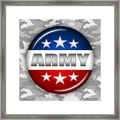 Nice Army Shield 2 Framed Print by Pamela Johnson