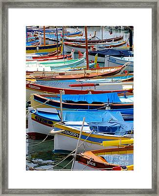 Nice Boats  Framed Print by Suzanne Oesterling