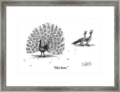 Nice Buns Framed Print by Sam Gross