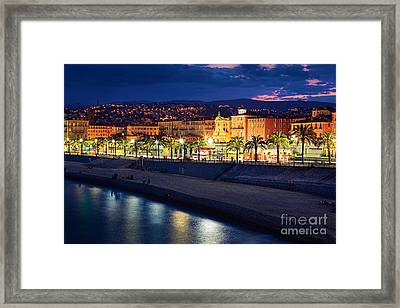Nice By Night Framed Print by Inge Johnsson