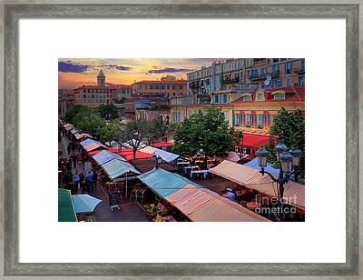 Nice Flower Market Framed Print