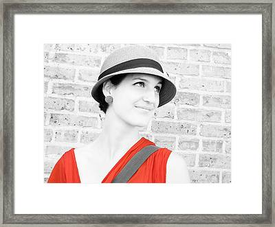Framed Print featuring the photograph Nice Hat by Tony Murray