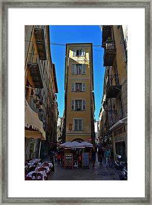 Framed Print featuring the photograph Nice - La Maison by Allen Sheffield