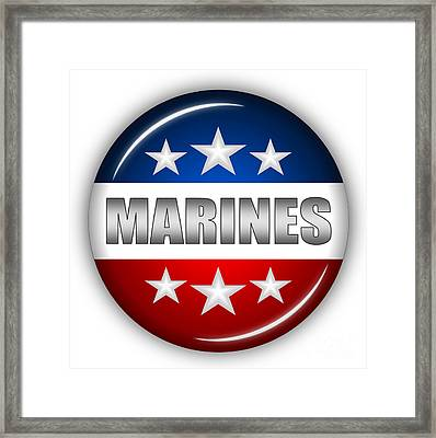 Nice Marines Shield Framed Print
