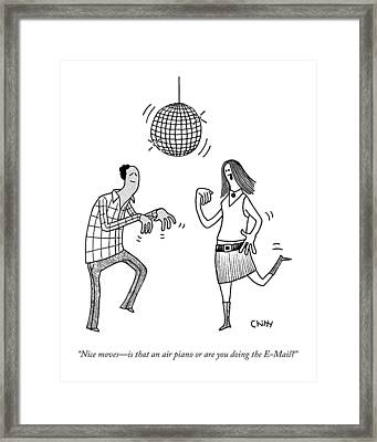 Nice Moves - Is That An Air Piano Or Framed Print by Tom Chitty