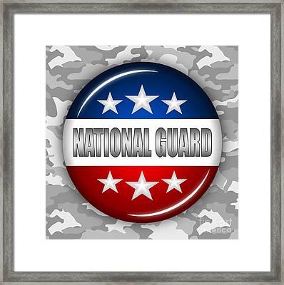 Nice National Guard Shield 2 Framed Print by Pamela Johnson