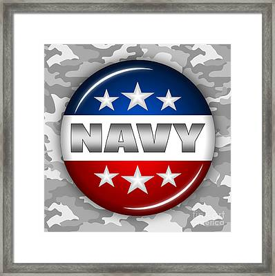 Nice Navy Shield 2 Framed Print