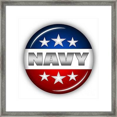 Nice Navy Shield Framed Print by Pamela Johnson