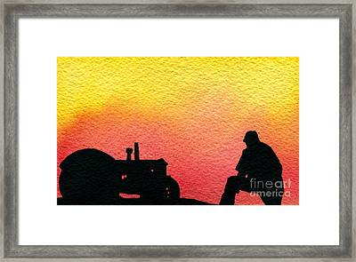 Nice Time Of Day Framed Print by R Kyllo