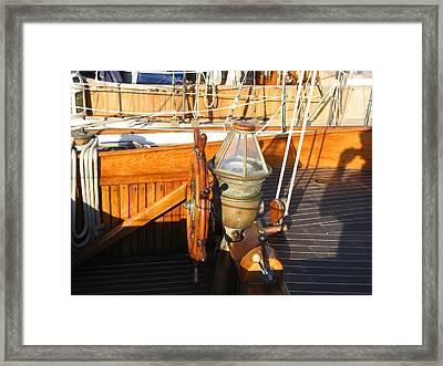 Nice Wheel Captain Framed Print by Kym Backland