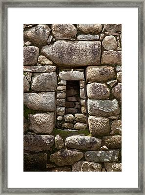 Niche And Stone Window Align Perfectly Framed Print