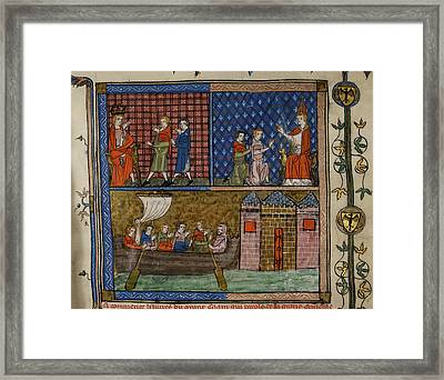 Nicholas And Marco Polo Framed Print