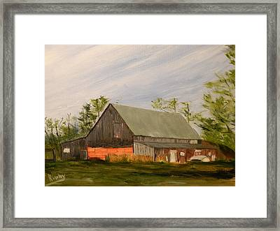 Nicholson Farm Framed Print by Ian Rigby