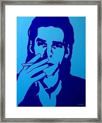 Nick Cave Framed Print by John  Nolan