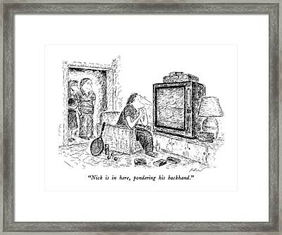 Nick Is In Here Framed Print