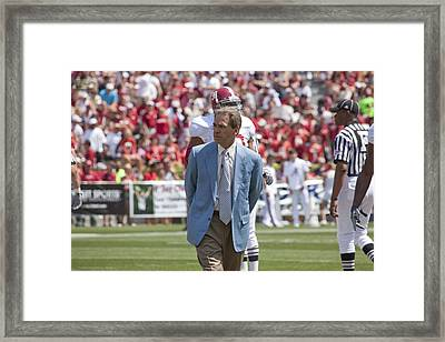 Nick Saban Head Football Coach Of Alabama Framed Print by Mountain Dreams
