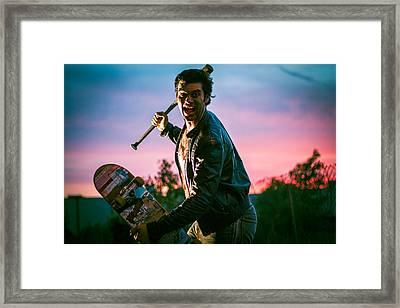 Nick Sommer Thrash Or Die Framed Print by Vincent Buckley