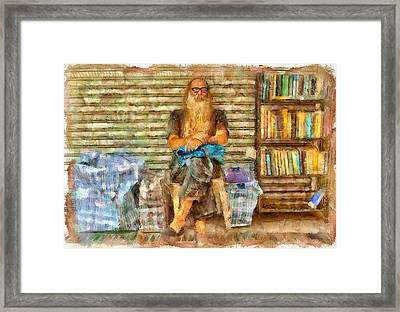 Nick The Booker At Lamma Island Framed Print