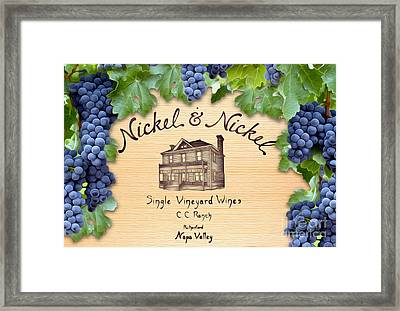 Nickel And Nickel Framed Print