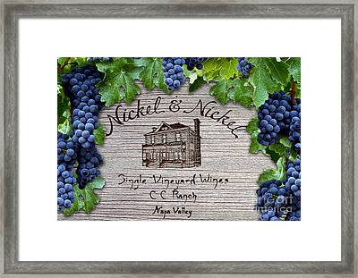 Nickel And Nickel Winery Framed Print by Jon Neidert