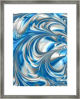 Nickel Blue Abstract Framed Print by John Edwards