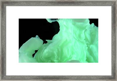 Nickel Hydroxide Precipitate Framed Print by Beautifulchemistry.net
