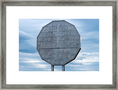 Framed Print featuring the photograph Nickel Monument by Marek Poplawski