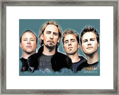 Nickelback Framed Print by Melanie D