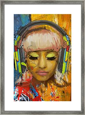 Nicki Minaj Framed Print by Corporate Art Task Force