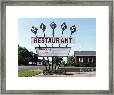Nicks Restaurant Framed Print