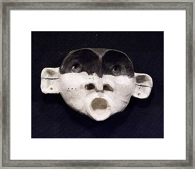 Nico Black Mask Framed Print by Mark M  Mellon