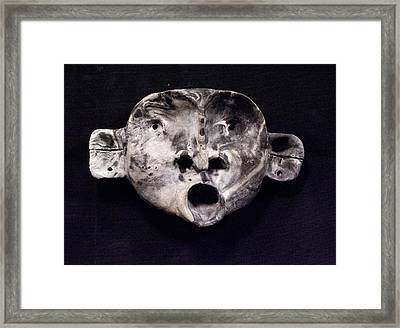 Nico Marble Mask Framed Print by Mark M  Mellon