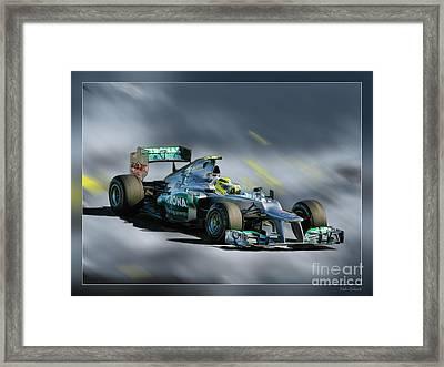 Nico Rosberg Mercedes Benz Framed Print