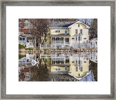 Nicolas And The Yellow House Framed Print