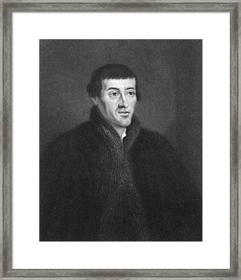 Nicolaus Copernicus Engraving Framed Print by Underwood Archives