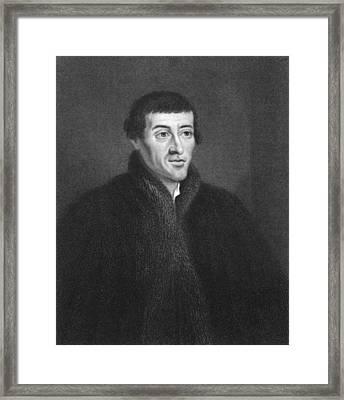 Nicolaus Copernicus Engraving Framed Print
