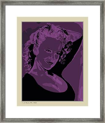 Framed Print featuring the digital art Nicole by Pedro L Gili