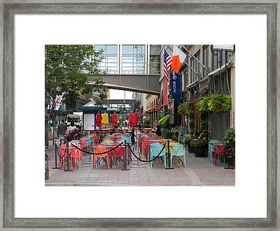 Nicollet Ave. Restaurant 1 Minneapolis Framed Print