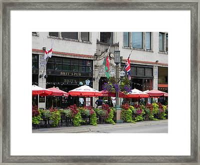 Nicollet Ave. Restaurant 2 Minneapolis Framed Print